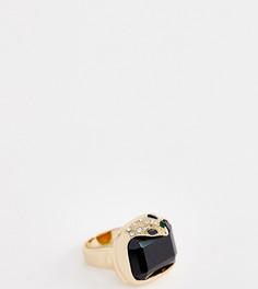Золотистое броское кольцо с камнями и змеей ALDO Oliadia - Золотой