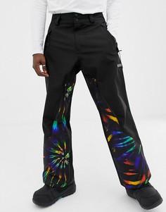 Горнолыжные брюки с принтом тай-дай ASOS 4505 - Черный