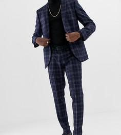 Темно-синие брюки узкого кроя с добавлением шерсти Heart & Dagger - Темно-синий