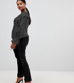 Бархатные брюки-сигаретки Lovedrobe - Черный