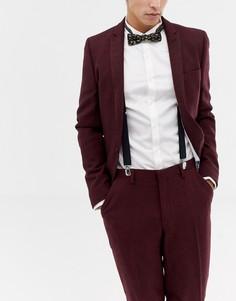 Черные галстук-бабочка с золотистым узором пейсли и подтяжки ASOS DESIGN - Черный