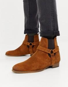 Коричневые замшевые ботинки в стиле вестерн River Island - Коричневый