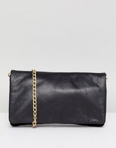 Кожаная сумка через плечо с ремешком-цепочкой Urbancode - Черный