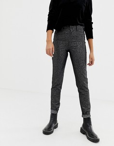 Черные блестящие джинсы с завышенной талией и добавлением органического хлопка Cheap Monday - Черный
