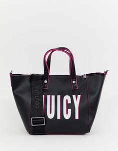 Сумка-тоут с логотипом Juicy Couture - Черный