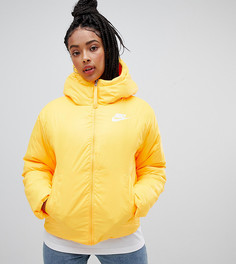 Желтая дутая куртка с капюшоном Nike - Желтый