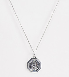 Серебряное ожерелье с подвеской ASOS DESIGN - Серебряный