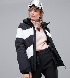Черно-белая горнолыжная куртка Protest Bellini - Черный