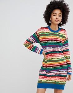 Разноцветное платье-джемпер Love Moschino - Мульти