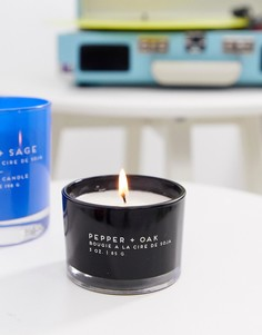 Броская свеча с ароматом перца и дуба Paddywax - 3 унции - Мульти