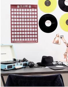 Скретч-постер со списком из 100 альбомов Gift Republic - Мульти
