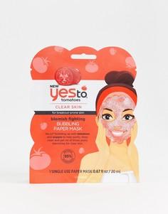Маска для лица для проблемной кожи Yes To Tomatoes - Одноразового использования - Бесцветный