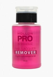 Средство для снятия лака Mollon Pro увлажняющая NAIL LAQUER REMOVER HYDROBALANCE 175 м