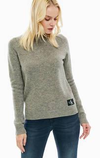 Серый джемпер из шерсти Calvin Klein