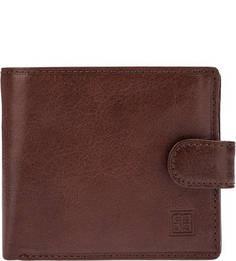Коричневое портмоне из натуральной кожи Sergio Belotti