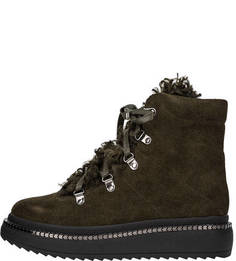 Замшевые ботинки цвета хаки Inuovo