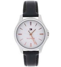 Кварцевые часы с тонким кожаным ремешком Tommy Hilfiger