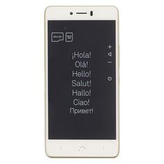 Смартфон BQ Aquaris U Plus 16Gb, золотистый/белый