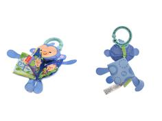 Игрушка Fisher-Price Мягкая книжка-игрушка Тигр / Обезьянка CCG04
