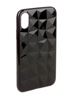 Аксессуар Чехол SkinBox Slim Silicone Diamond для Apple iPhone X Black T-S-AIX-007