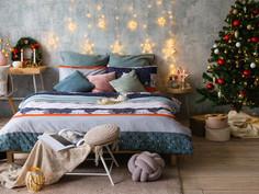 Постельное белье Экономь и Я Новогодний мишка Комплект 1.5 спальный Микрофайбер 3921054