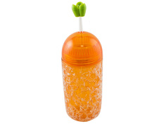 Термокружка Эврика Ледяной стакан Морковка 350ml 99016 Evrika