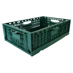 Складной контейнер зеленый 600x400x180 мм пластик система ortus 4212.750