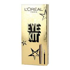Набор подарочный женский LOREAL тушь для ресниц VOLUME MILLION LASHES LIMITED черная, карандаш для глаз черный LOreal