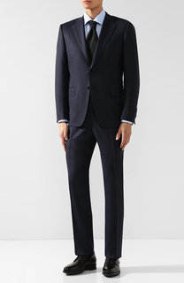 Шерстяной костюм с пиджаком на двух пуговицах Canali