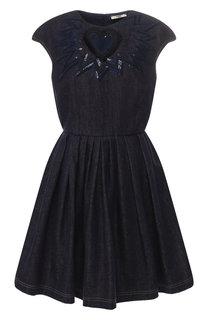 Джинсовое мини-платье Fendi