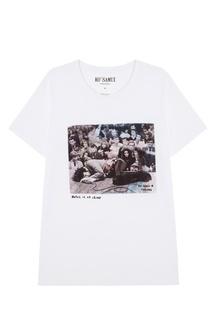 Белая футболка с фотопринтом James — Jim Morrison KO Samui