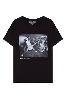 Черная футболка с фотопринтом Hey Ho — Ramones KO Samui