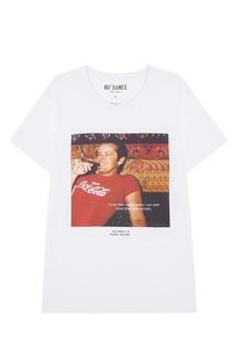 Белая футболка с фотопринтом Sigar KO Samui