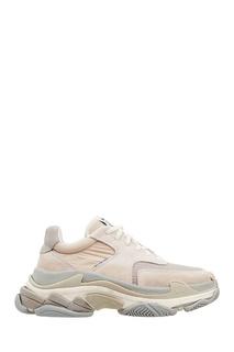 Серо-бежевые кроссовки Triple S Balenciaga