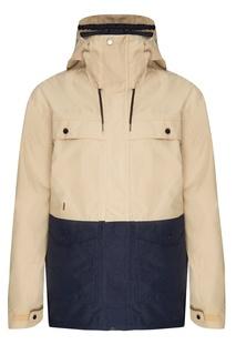 Бежево-синяя куртка для сноуборда Horizon Quiksilver