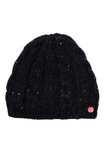 Черная шапка с пайетками Glacialis Roxy