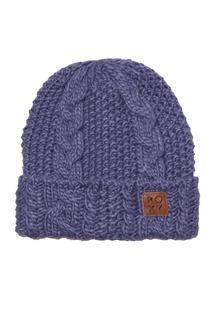 Синяя вязаная шапка Tram Roxy