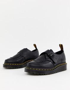 Черные туфли на платформе с тисненой отделкой Dr Martens Ramsey II - Черный