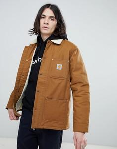 Коричневое пальто с подкладкой из искусственного меха Carhartt WIP Phonix - Коричневый