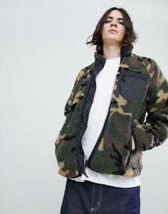 Камуфляжная куртка Carhartt WIP pile prentis liner - Зеленый