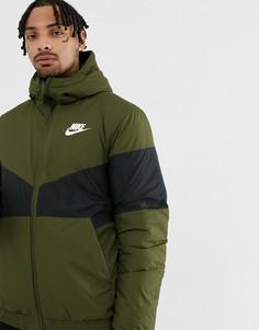 Зеленая уплотненная ветровка Nike 928861-355 - Зеленый