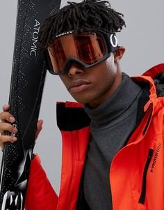 Большие защитные очки с черной оправой и ремешком Oakley O Frame 2.0 XL - Черный