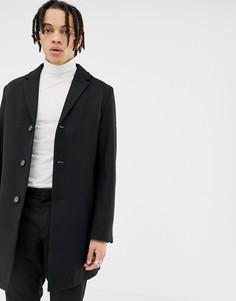 Классическое пальто с добавлением шерсти Harry Brown premium - Черный