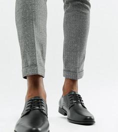Черные туфли дерби для широкой стопы из искусственной кожи ASOS DESIGN - Черный