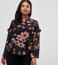 Блузка с цветочным принтом Lovedrobe - Мульти
