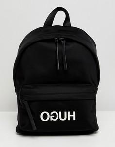 Нейлоновый рюкзак с логотипом HUGO - Черный