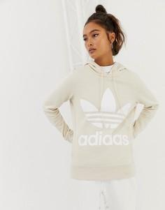Худи с логотипом-трилистником аdidas Originals - Белый Adidas