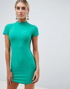Облагающее платье с полоской сбоку AX Paris - Зеленый