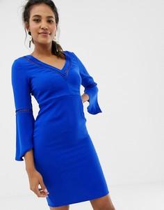 Платье с V-образным вырезом Paper Dolls - Синий