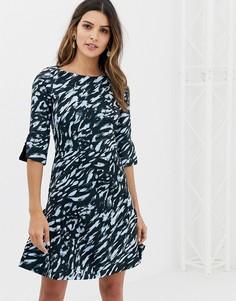Платье с принтом и присборенной юбкой Closet - Мульти